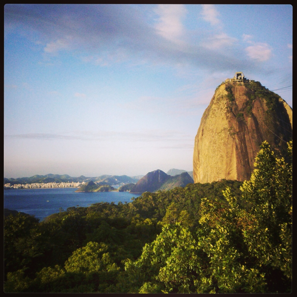 Sugarloaf in Rio, from Morro de Urca.