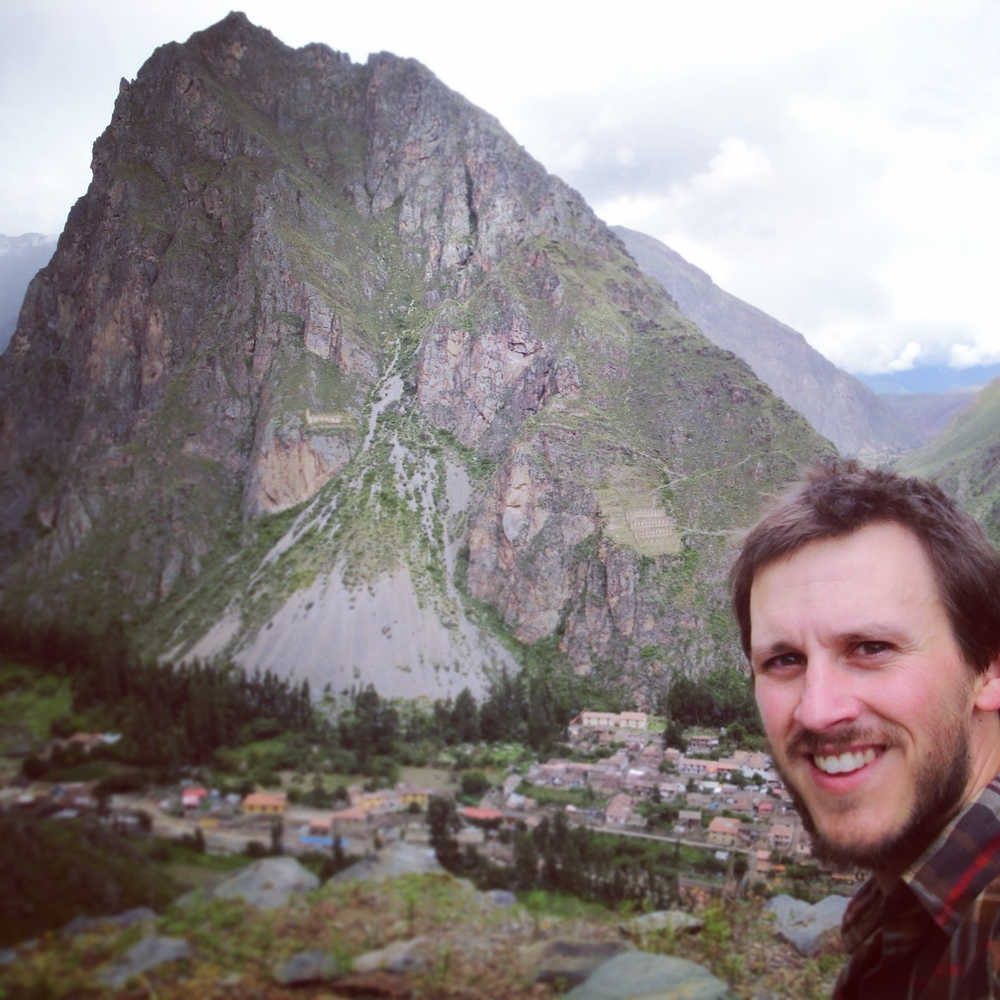 Mountain selfie above Ollantaytambo, Peru.