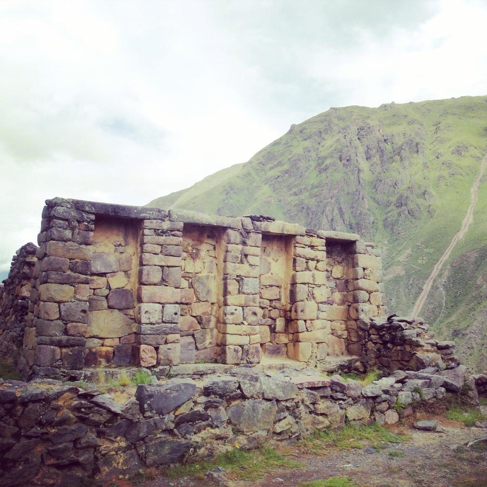 Ruinas Incas in Ollantaytambo, Peru.