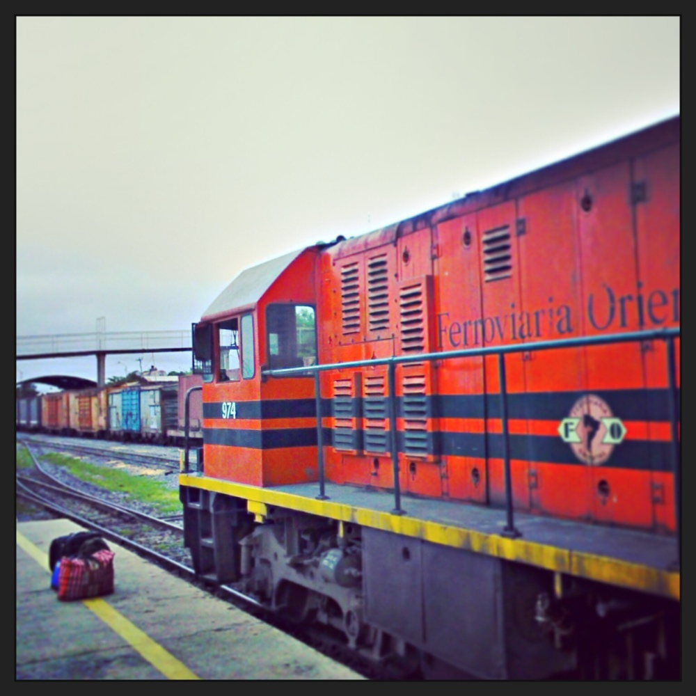 "The hyperbolically named ""Death Train"" through eastern Bolivia."