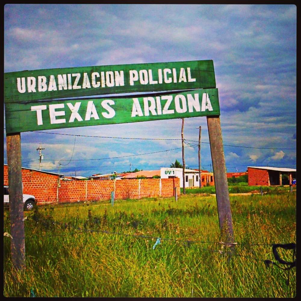 Texas Arizona, Bolivia, where no one knows the history of the name.