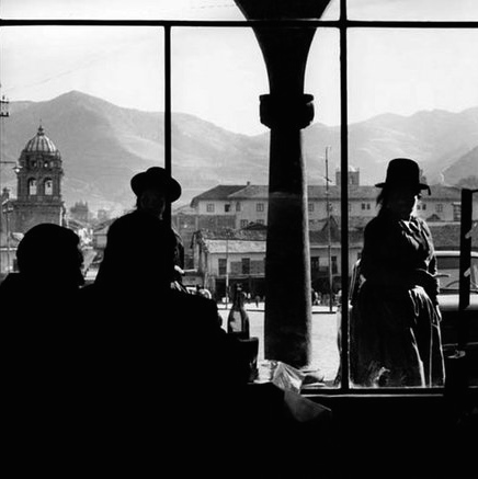 Thompson's shot out of a storefront window in Cusco, Peru, 1962.