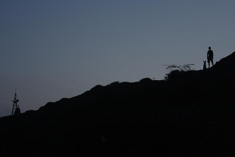 Hillside silhouette in Guajira.