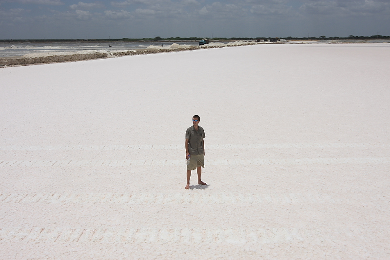 On the Manaure salt flats in Guajira.