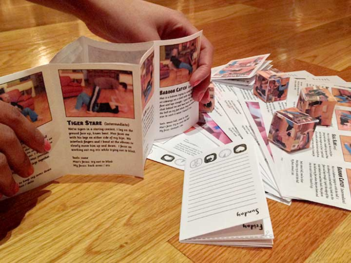 origami dice turns your workout into a game