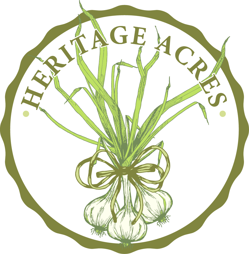 Heritage Acres Farm - Certified Naturally Grown gourmet garlic for eating or planting