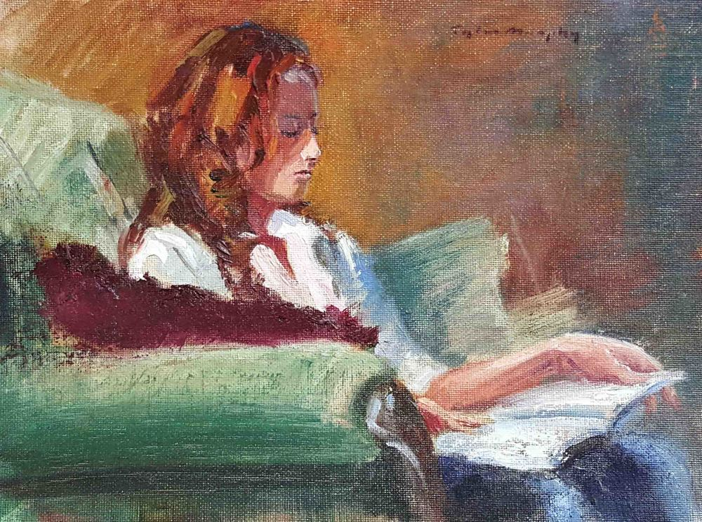 Evening Figurative Study at Loren's Studio 9x12.jpg