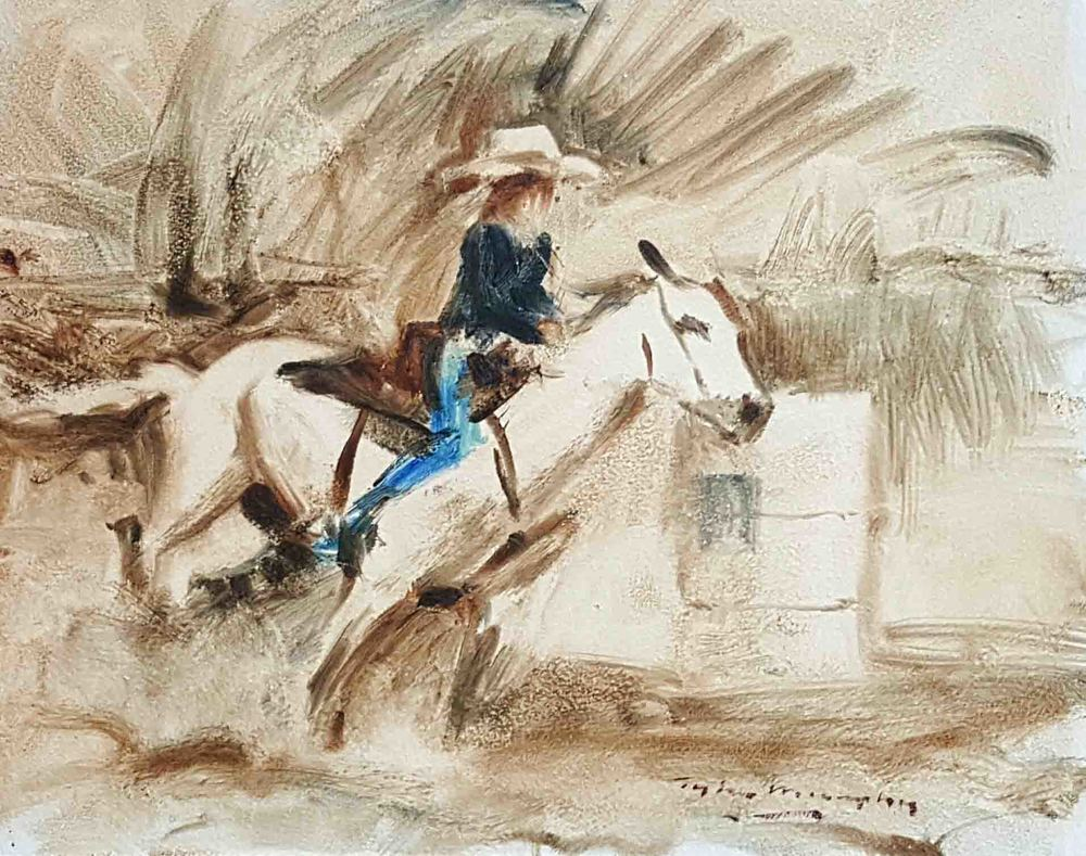 Quick Sketch of a Barrel Racer 8x10.jpg