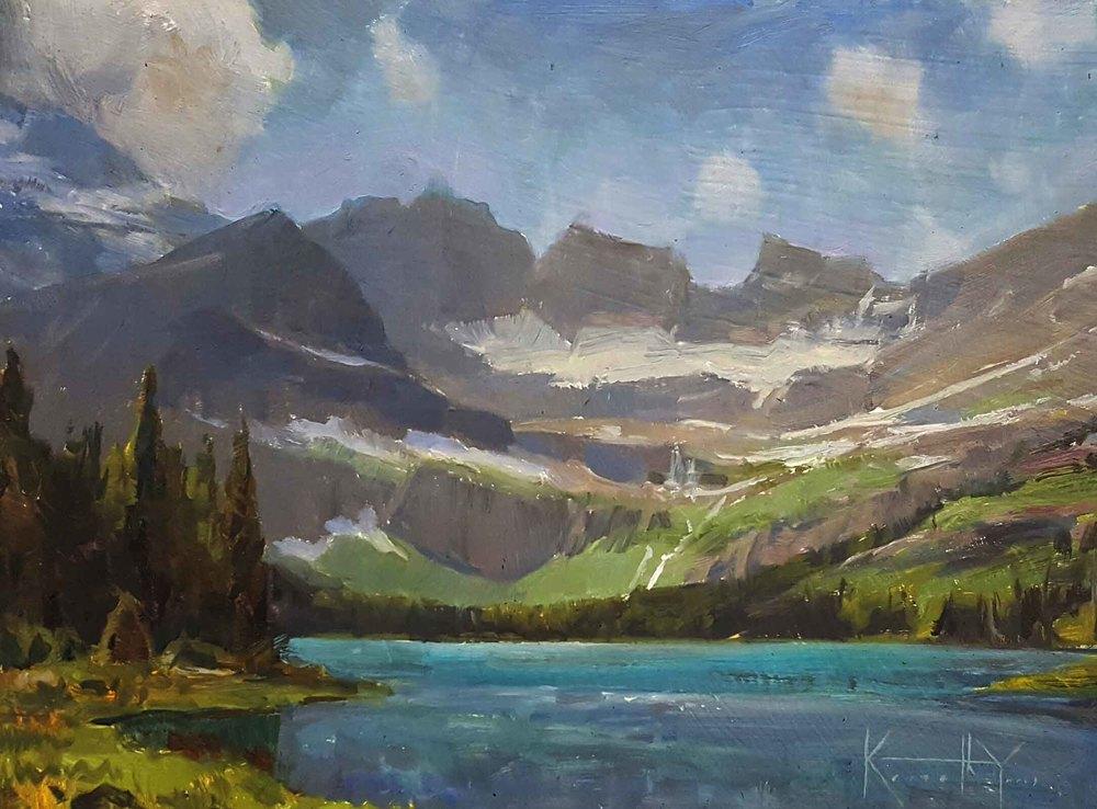 "Ken Yarus ""Josephine Lake"" 9 x 12 unframed $425"