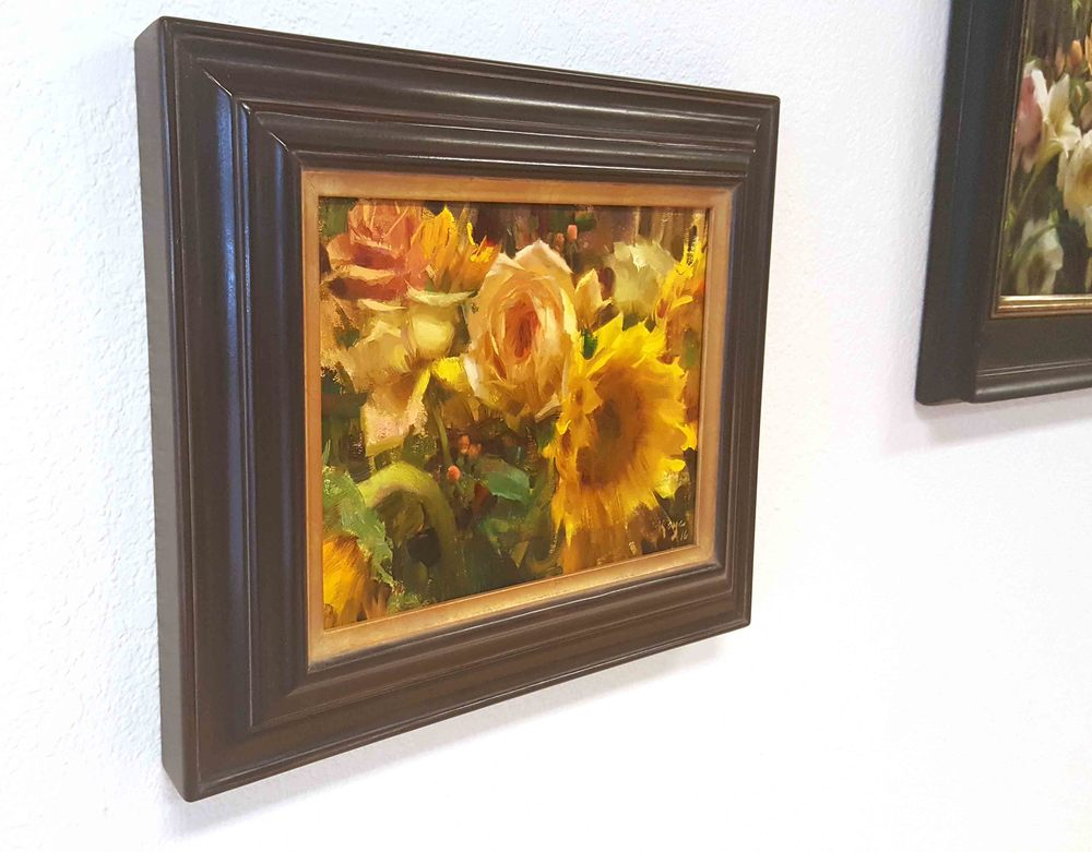 "Daniel Keys ""Sunflowers and Roses"" with Nate Closson frame"