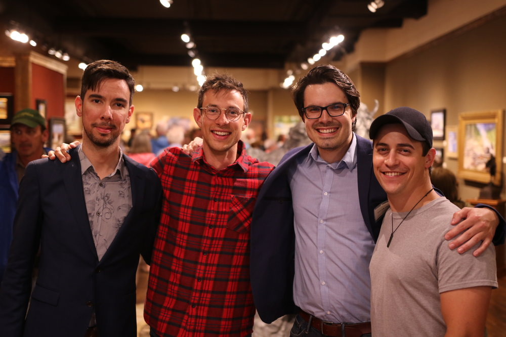 Daniel, Riche, Tyler, and Ken light up the room at Legacy Gallery.