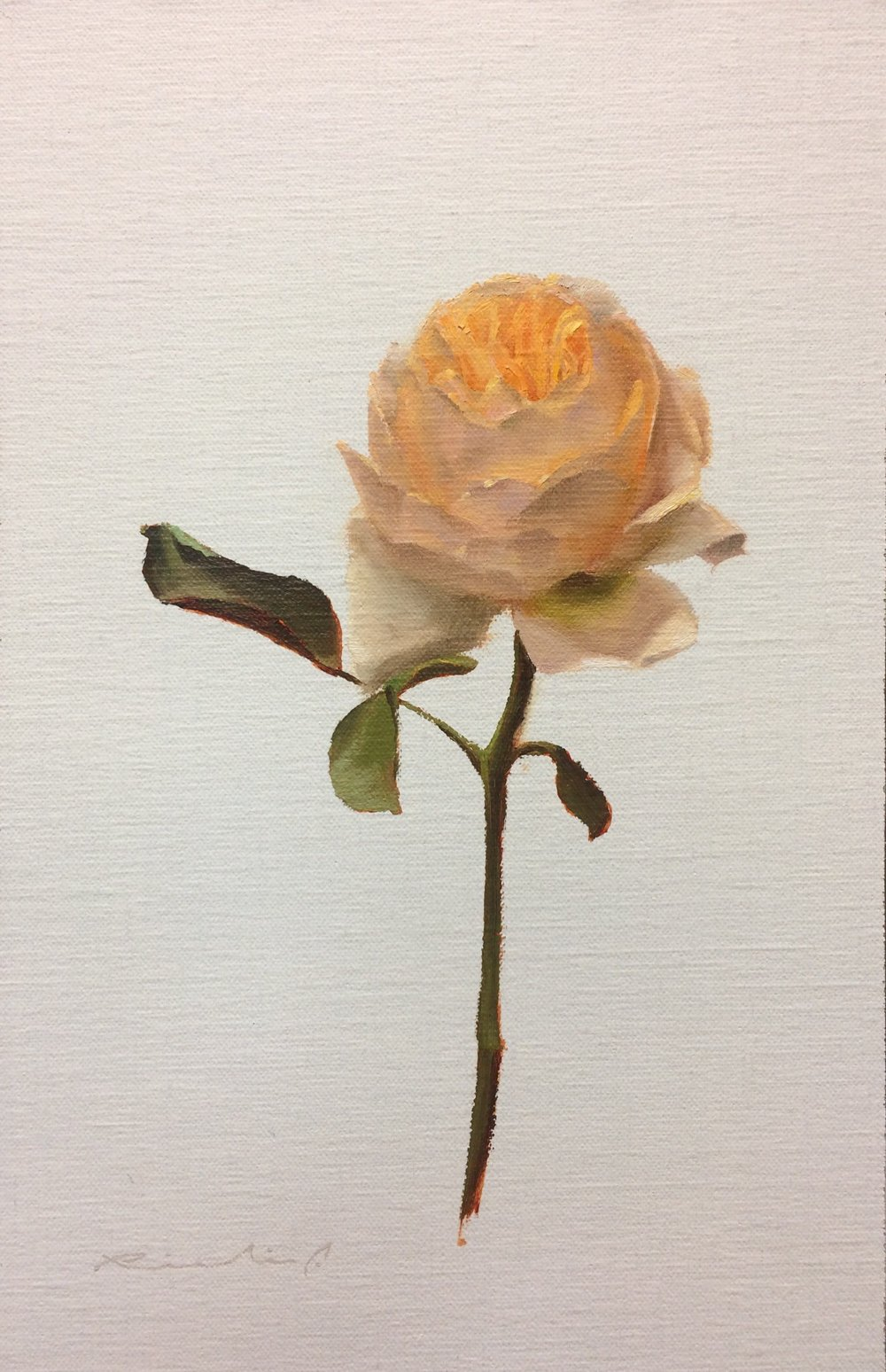 """Bed of Roses 4""  $650.00  8 x 12 inches 