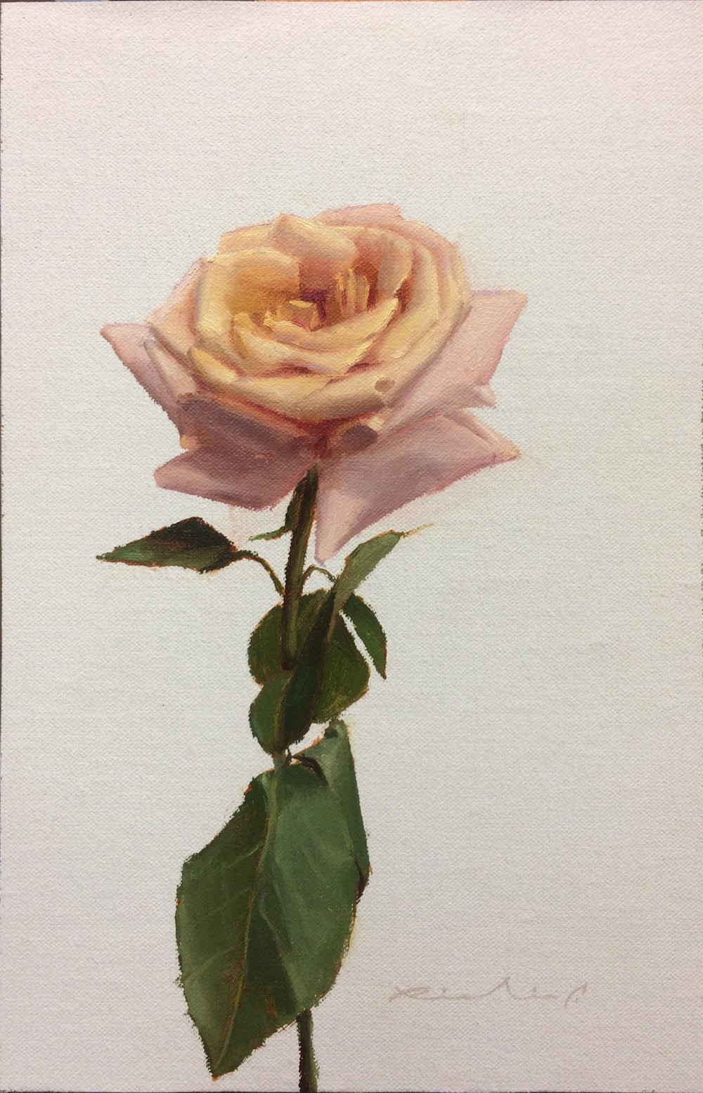 """Bed of Roses 6""  $650.00  8 x 12 inches 