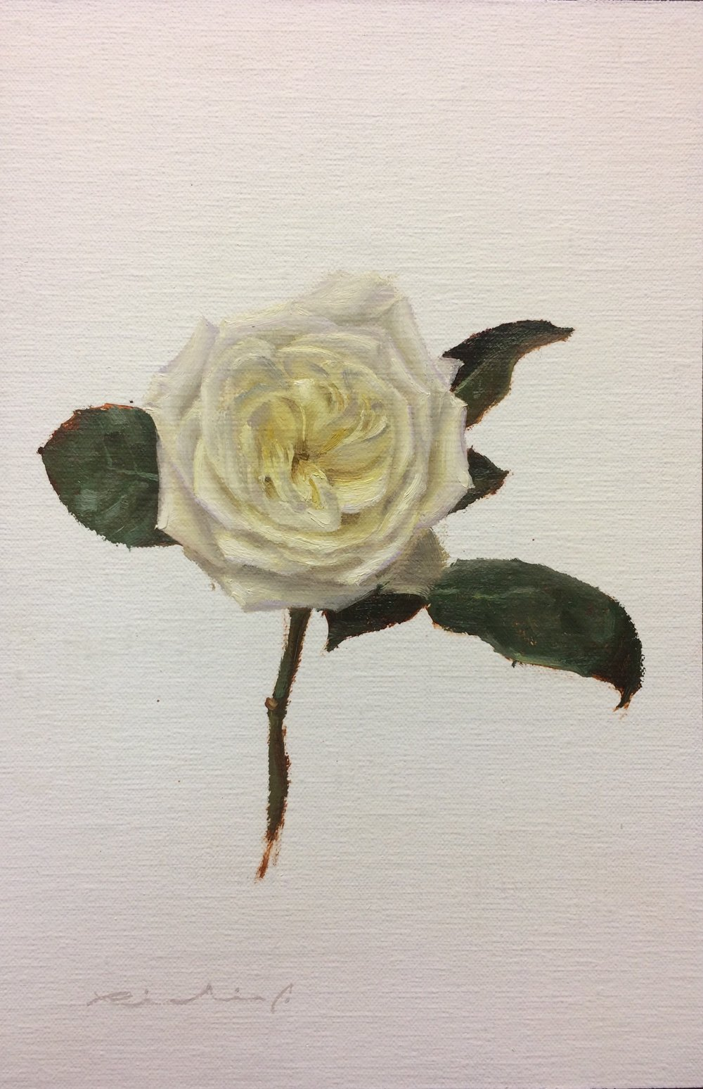 """Bed of Roses 8""  $650.00  8 x 12 inches 