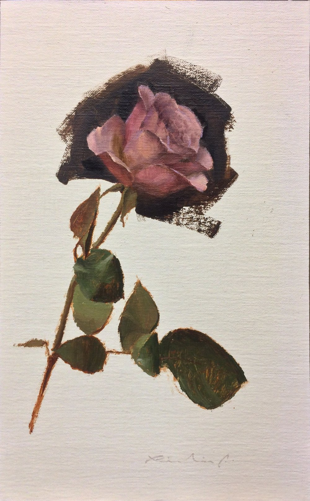 """Bed of Roses 10""  $650.00  8 x 12 inches 