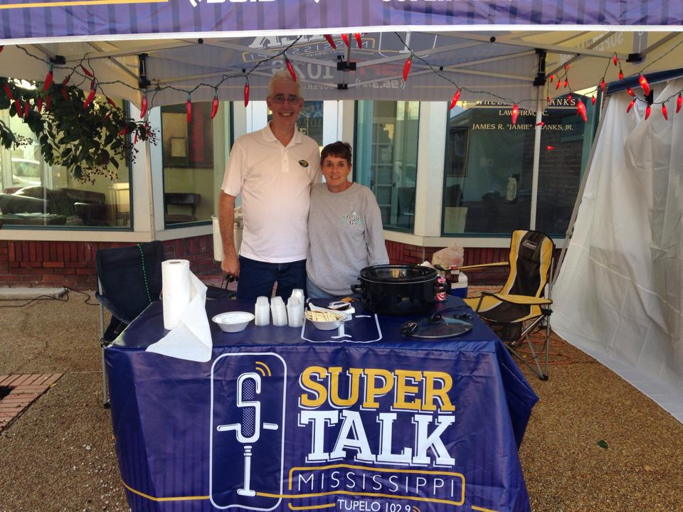 Steve Knight and Kim Houston of Supertalk Mississippi- 2014 Chili Fest Overall Winners
