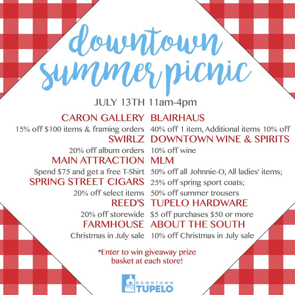 The promo poster for Downtown Summer Picnic 2017