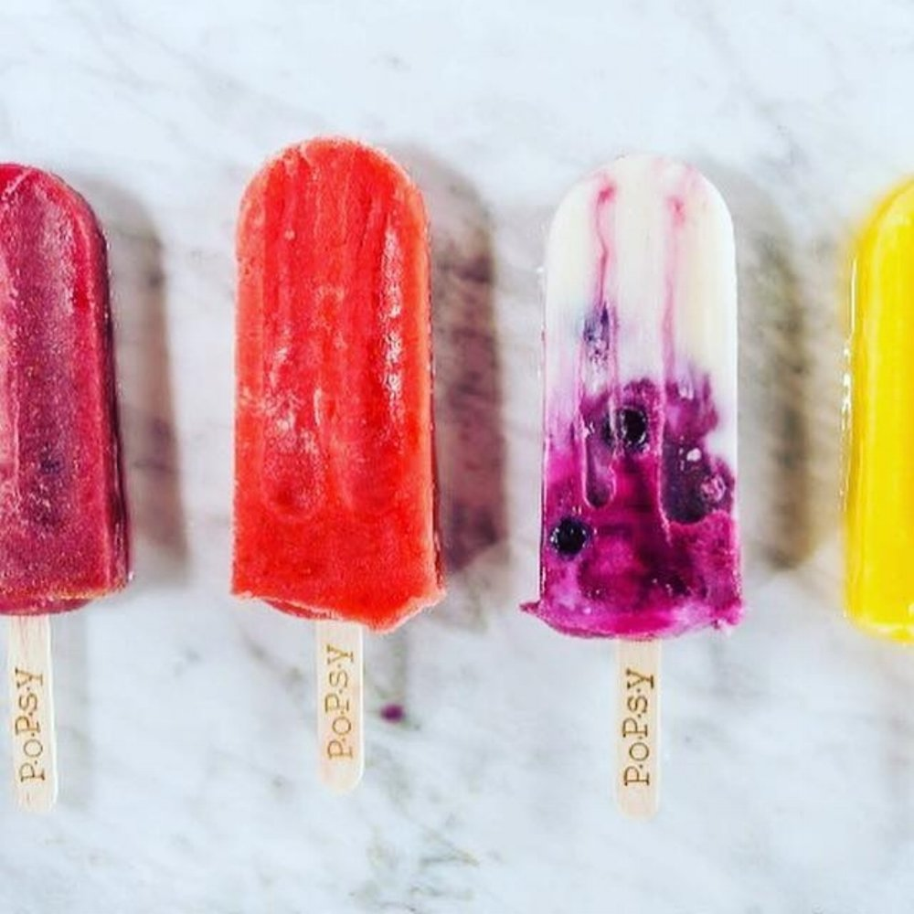 PoPsy   Gourmet frozen treats hand-crafted daily with fresh fruit and organic or certified naturally grown ingredients. Also, check out their new and healthy lunch menu.