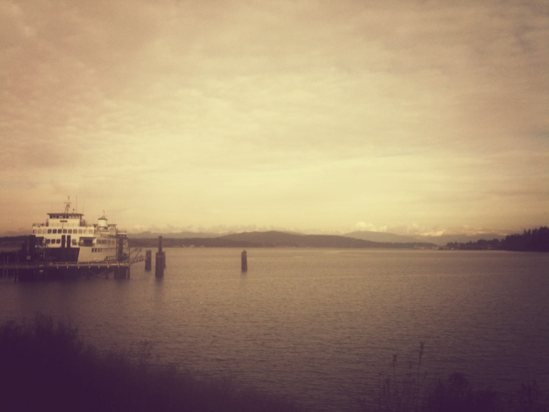 maybe being in love feels like a soft, cloudy day so clear you can see mt. baker from the anacortes ferry line.