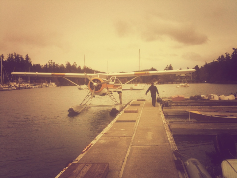 maybe being in love feels like watching a pilot walk to the float plane at deer harbor, after he kisses you goodbye. the palpable sense of a never-ending adventure.