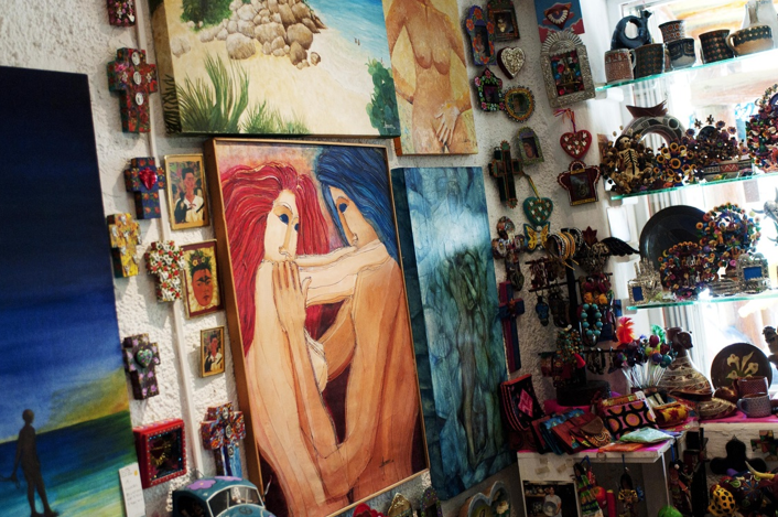 paintings by nayeli's father, the mexican artist raul aparicio.