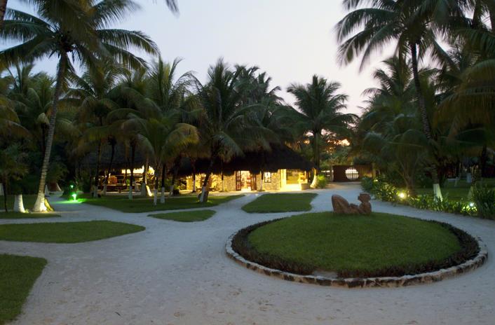 evening falls on maya tulum