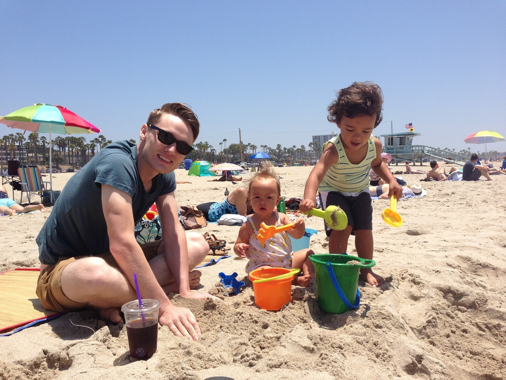 Travis + Kids at the beach