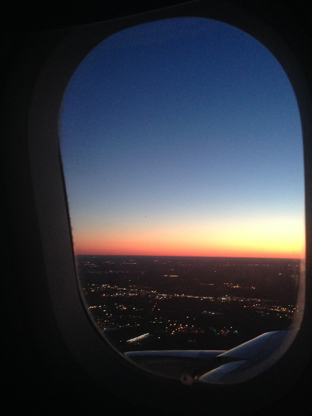 Sunrise as we flew into Charlotte for our layover. The time zone change was brutal.