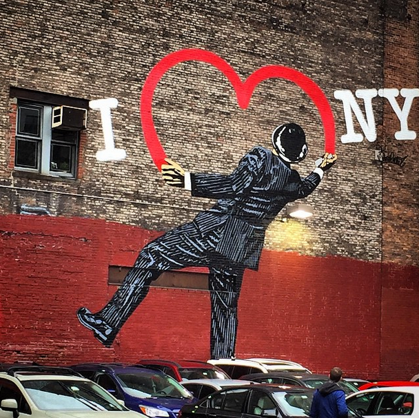 """Vandal"" by Nick Walker spotted in Chelsea. Photo by Anne Quito"