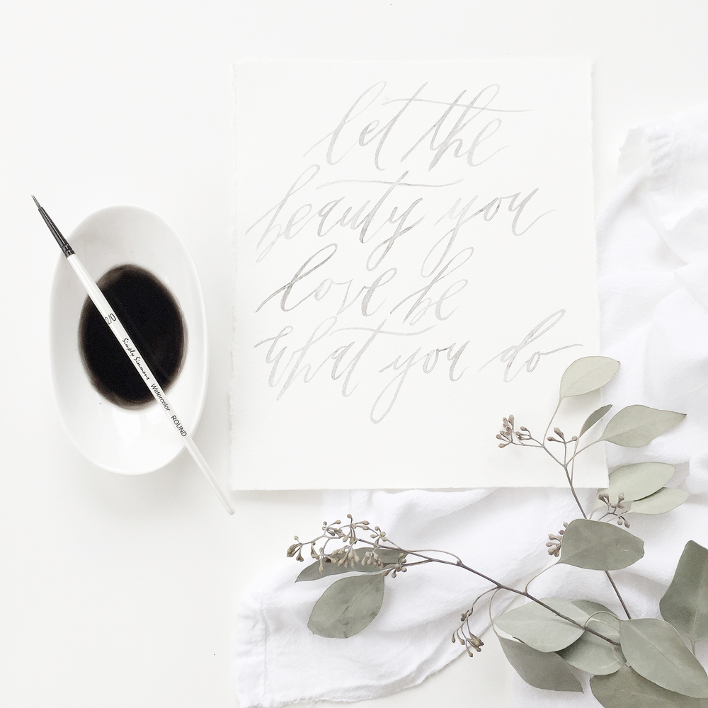 graceline illustration + calligraphy