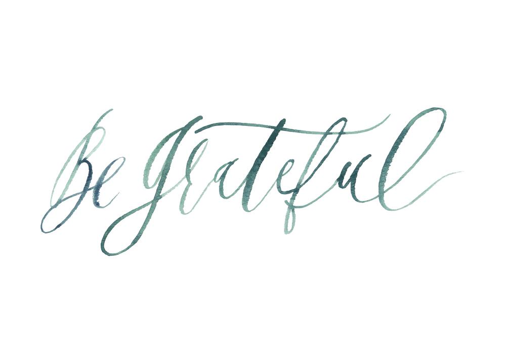 graceline illustration + calligraphy | be greateful
