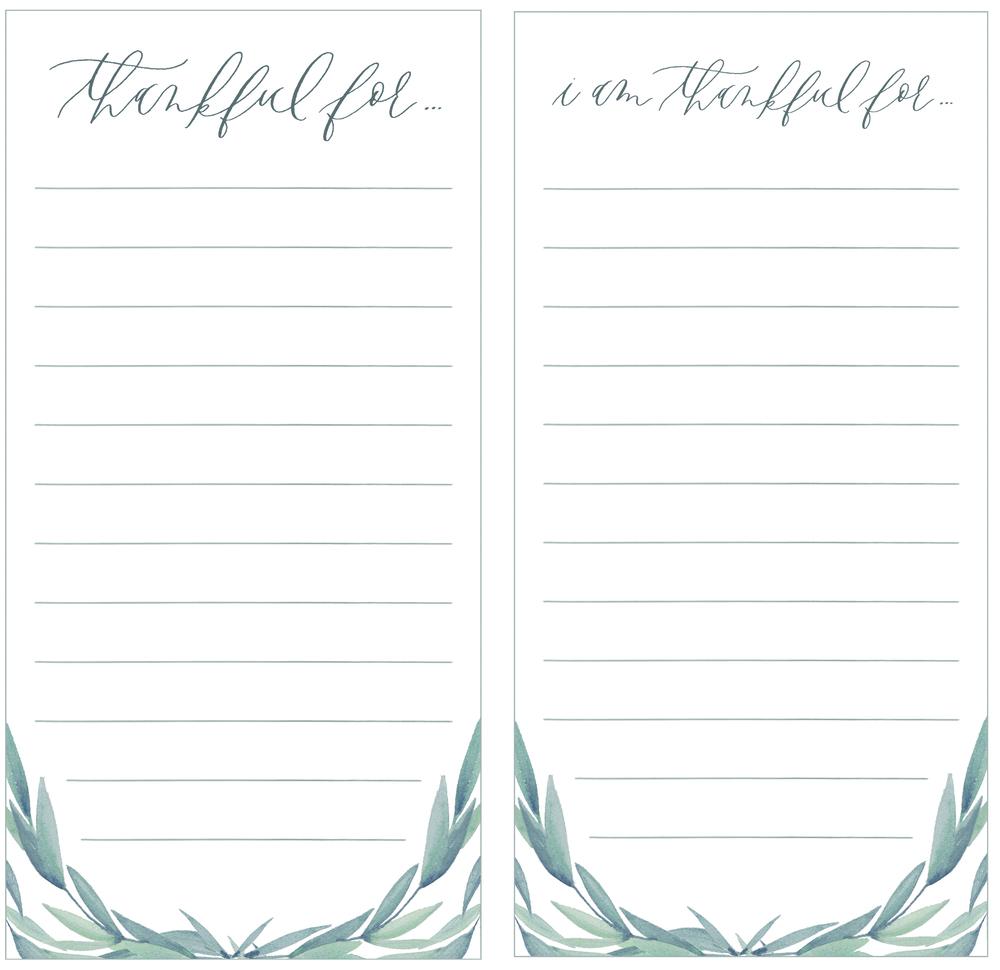 graceline illustration + calligraphy | thanksgiving list