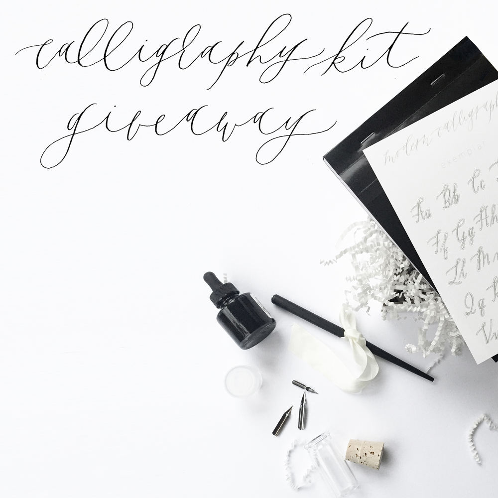 graceline | illustration + calligraphy | calligraphy kit