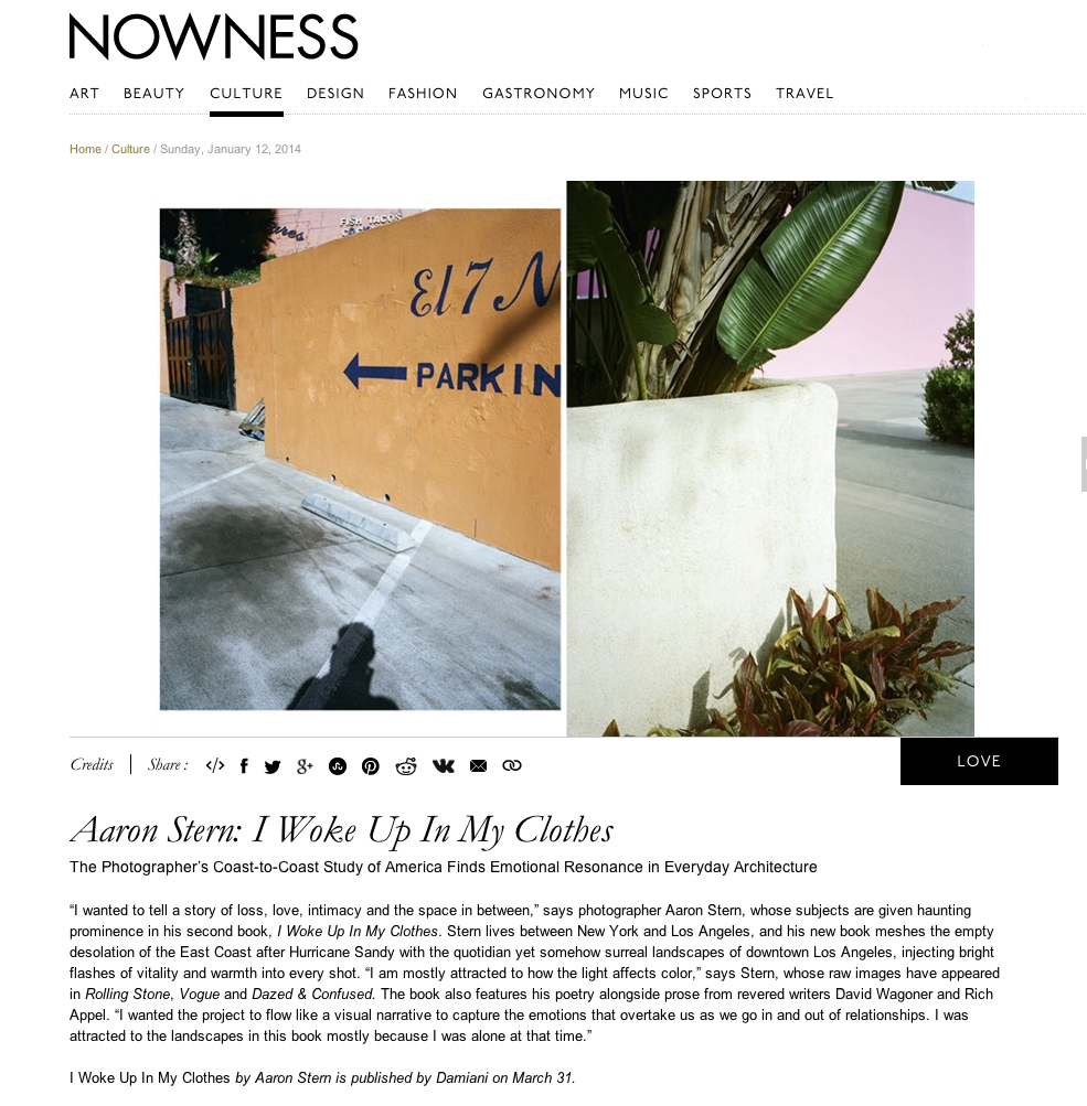 Nowness 2014  Read the full review   HERE