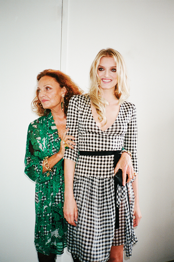 DVF and Lily Donaldson for Elle UK, October Issue