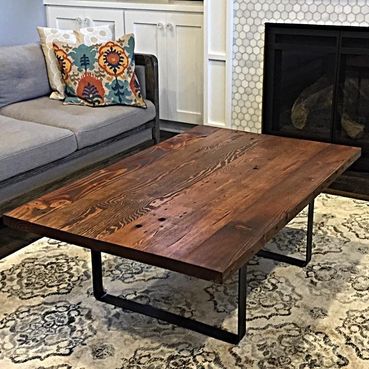 Wood Cayman Coffee Table: Fremont Coffee Table — Stumptown Reclaimed