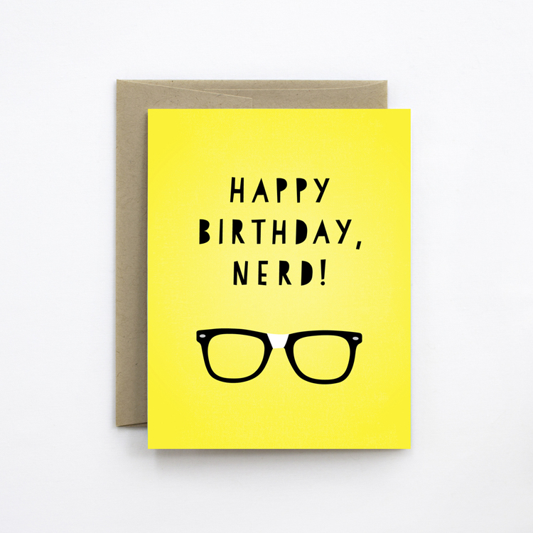 Happy Birthday Nerd The Detroit Card Co – Nerdy Birthday Card