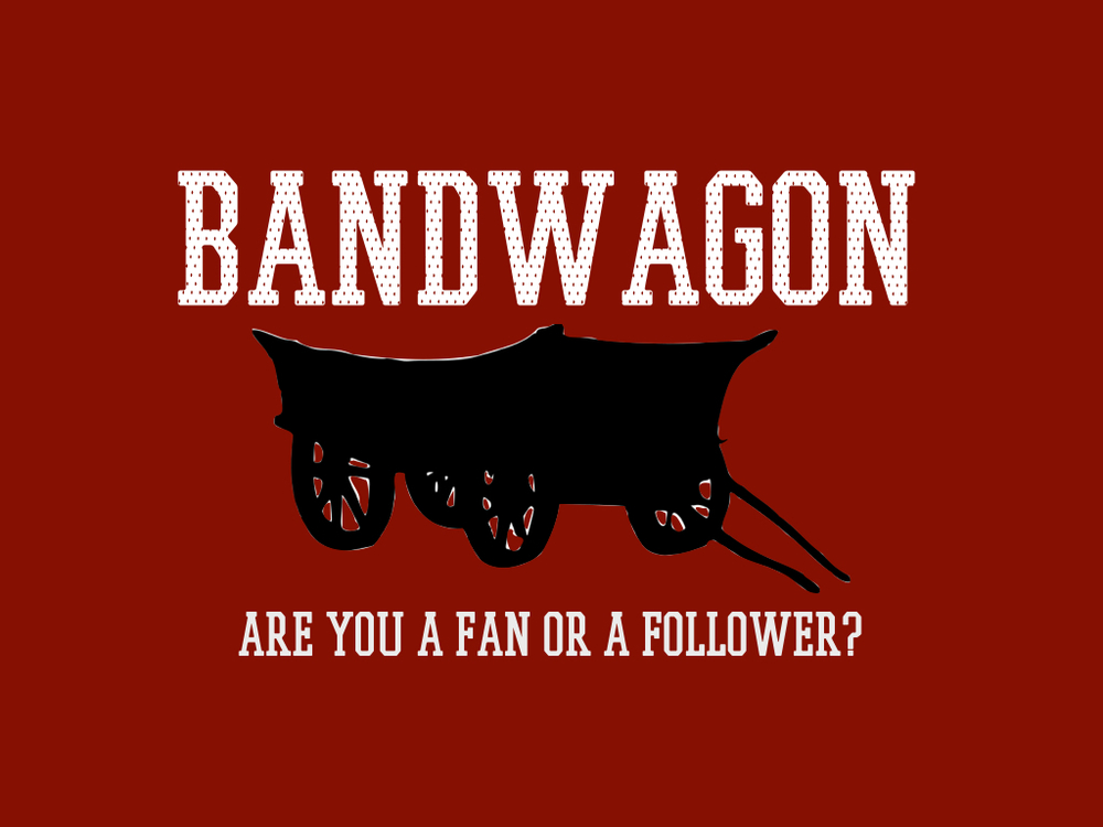 BANDWAGON   3 week series to test your students' commitment to Jesus
