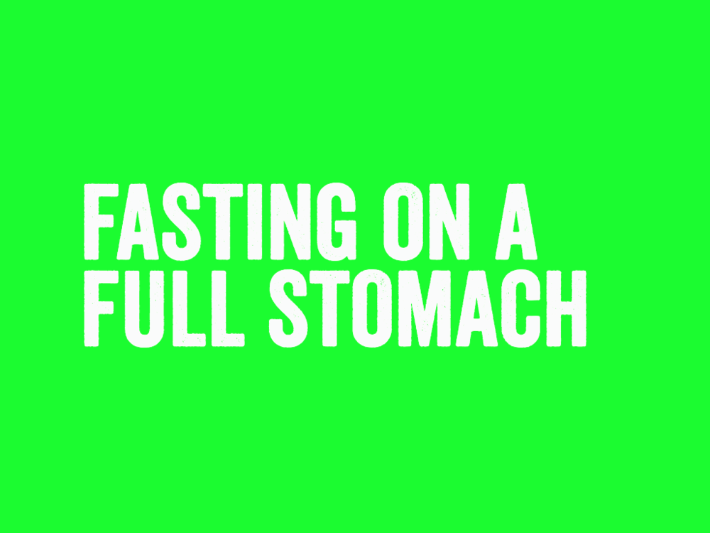 Fasting On A Full Stomach   4 week series that will teach your students about true sacrifice for God