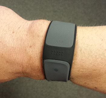 Mio Link is worn just above the wrist bone.
