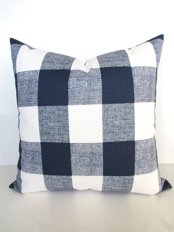 Buffalo Check Pillow Cover - Ballard Design - With many different colors, Ballard design provides a buffalo pillow for every pallet. They also have this is a gorgeous neutral tone and three more colors. They are strong and bring a real country feel to the space.