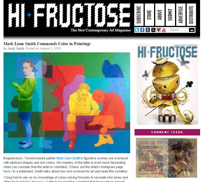 Feature in Hi-Fructose Magazine