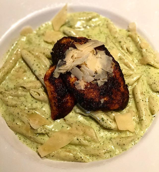 Hello halibut!  Try our Sunday night dinner special a blackened halibut pesto pasta served with penne noodles.  We also have a 12oz New York steak strip served with roasted potatoes and sautéed carrots. . . . . . . . . . . . #mcgivneys #sportsbar #mightytasty #tasty #yum #juneau #ak #alaska #dinejuneau #dba #adventurebyday #luxurybynight #juneaueats #food #foodstagram #sports #juneaurestaurants #eats #eatlikealocal #instagood #restaurant #dinnerspecial #mcgivneysvalley