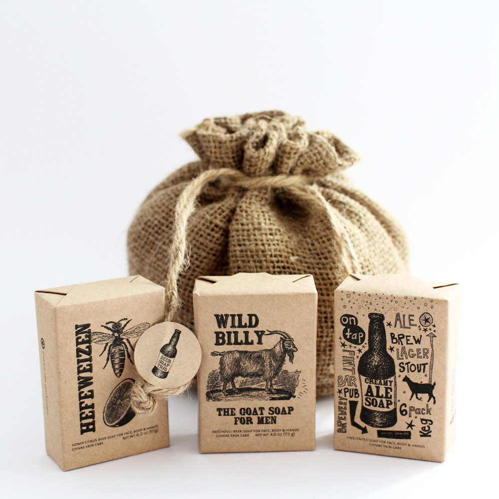 FOR HIM          Beer Soap Trio          SAVE $5.00