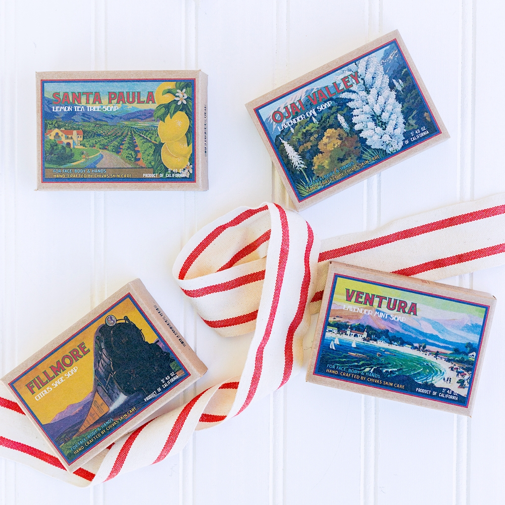 California Collection >> Buy 4 Soaps, and 4 more will be donated!