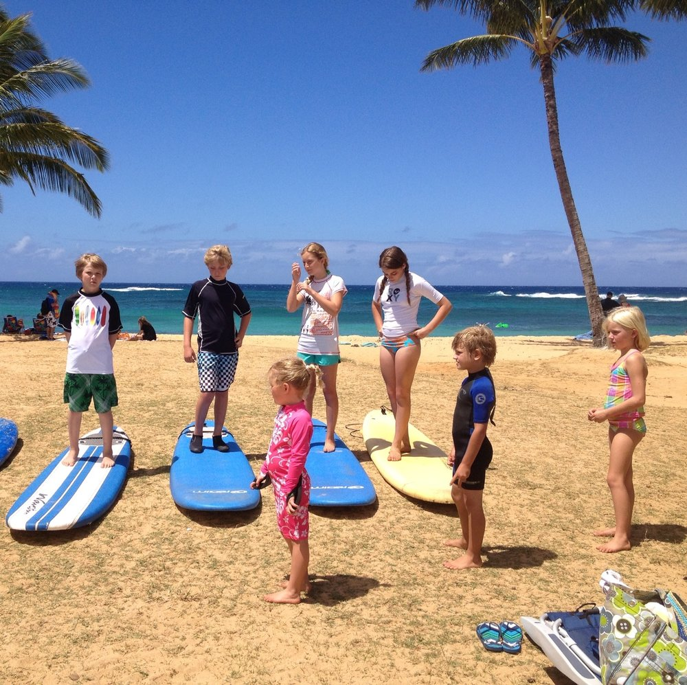 Spending time with family in Hawaii