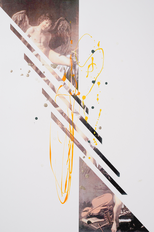Markues, IΓÇÖm a Survivor, 2014, mixed media on paper, 60 x 40 cm.jpg