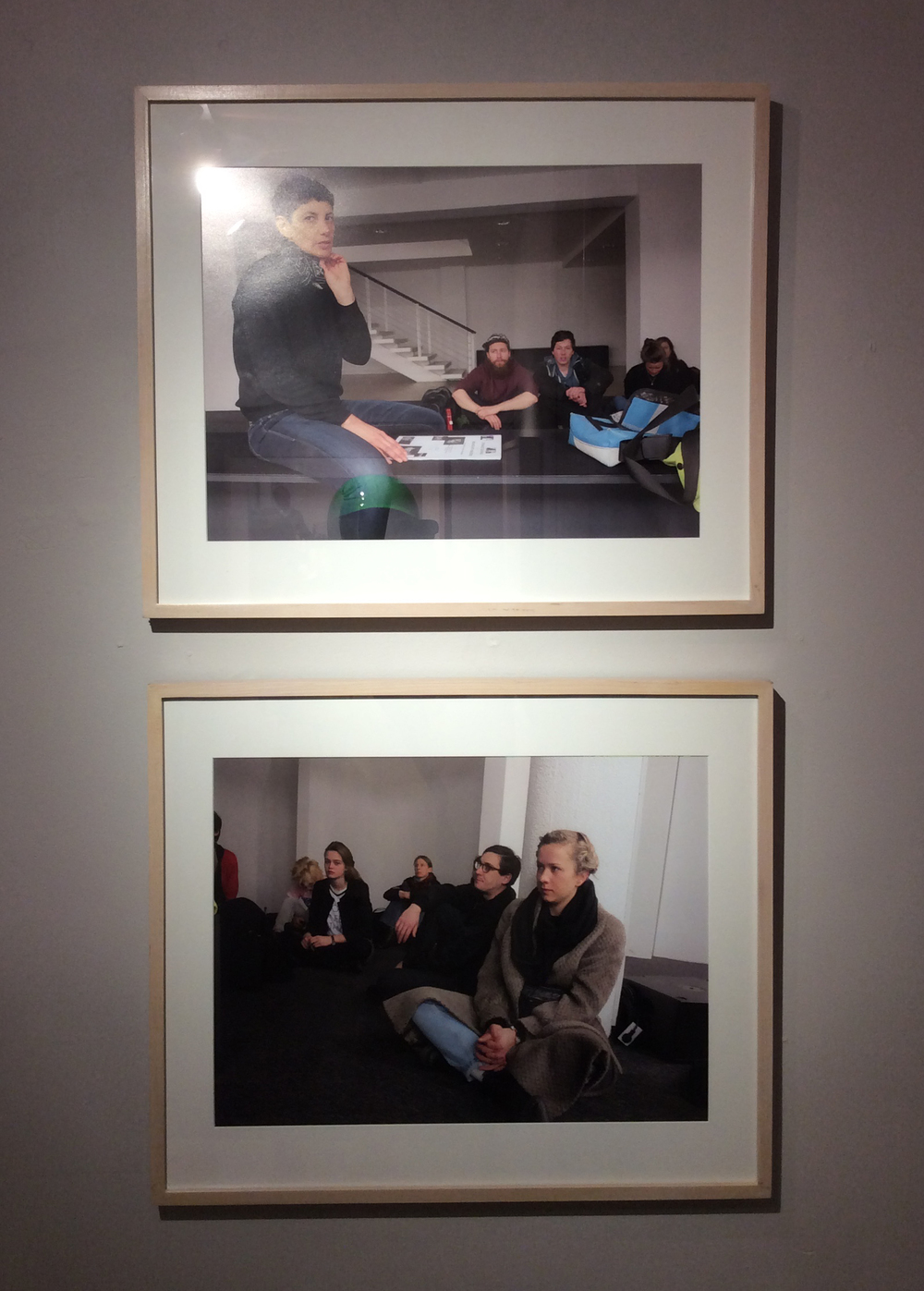 "Rainer Ganahl; S/L, Yael Bartana, Yael Bartana, Capitainpetzel, Berlin 2/27/2015;   4 photographs, 20"" x 24"", Edition of 4; 2015"