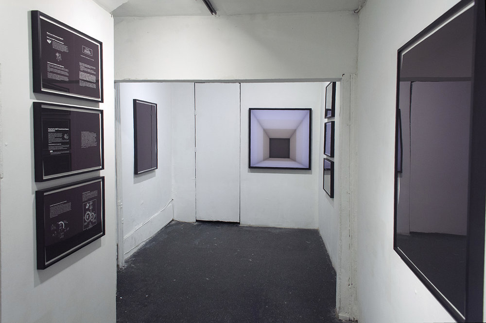 Installation view (back room)