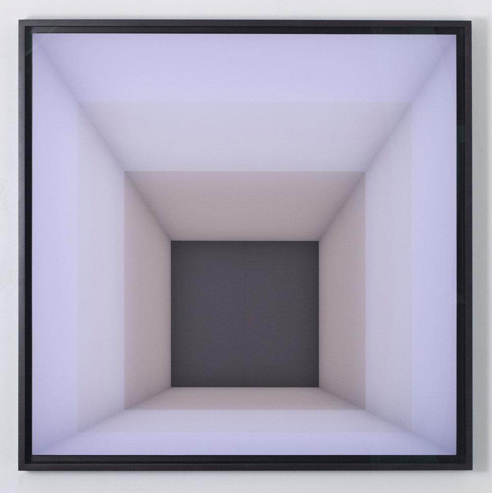 """Craig Kalpakjian Untitled 6000ºK / 7000ºK / 8000ºK) [after Josef Albers],2011-2014 36"""" X36"""" (91 x 91cm) Edition of 3"""